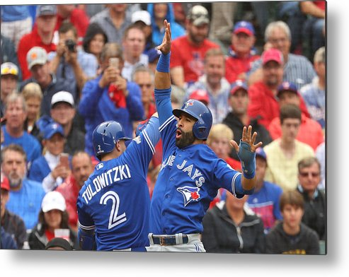 Game Two Metal Print featuring the photograph Troy Tulowitzki by Scott Halleran