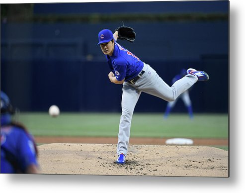 American League Baseball Metal Print featuring the photograph Tsuyoshi Wada by Denis Poroy