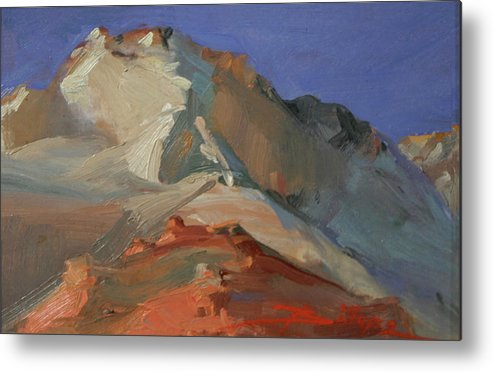 Zion Nat'l Park Metal Print featuring the painting Upper Crust Zion by Betty Jean Billups