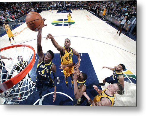Nba Pro Basketball Metal Print featuring the photograph Victor Oladipo by Melissa Majchrzak