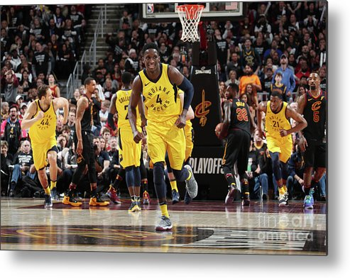 Playoffs Metal Print featuring the photograph Victor Oladipo by Nathaniel S. Butler