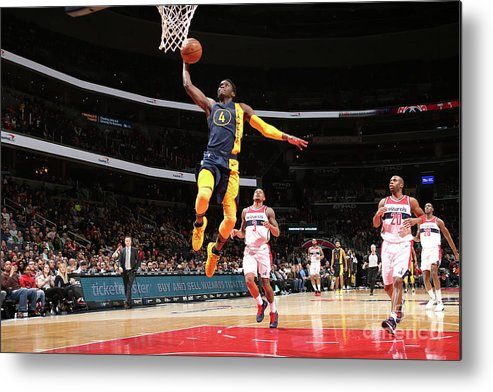 Nba Pro Basketball Metal Print featuring the photograph Victor Oladipo by Ned Dishman