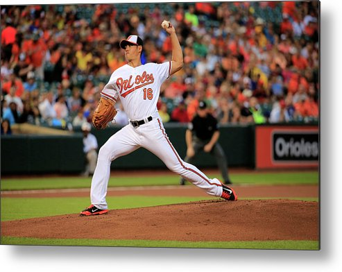 American League Baseball Metal Print featuring the photograph Wei-yin Chen by Rob Carr