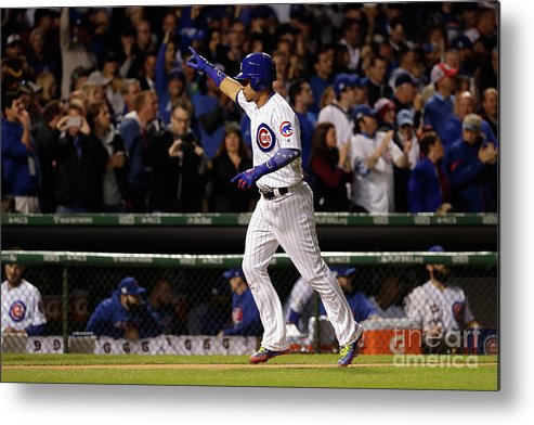 Second Inning Metal Print featuring the photograph Willson Contreras by Jamie Squire