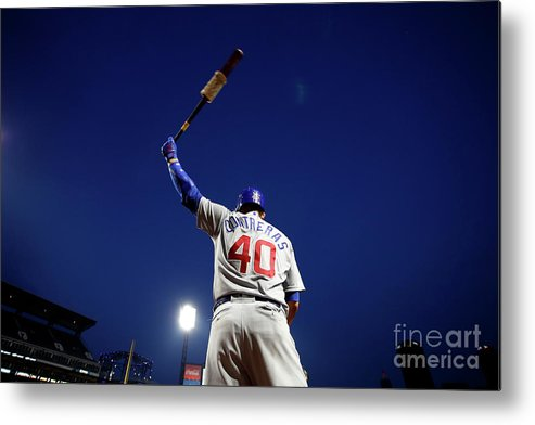 Three Quarter Length Metal Print featuring the photograph Willson Contreras by Justin K. Aller
