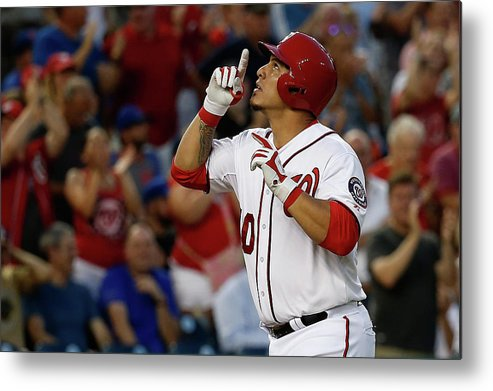 People Metal Print featuring the photograph Wilson Ramos by Rob Carr
