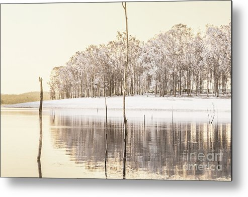 Landscape Metal Print featuring the photograph Winters Edge by Jorgo Photography - Wall Art Gallery