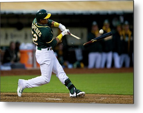 Yoenis Cespedes Metal Print featuring the photograph Yoenis Cespedes by Jason O. Watson