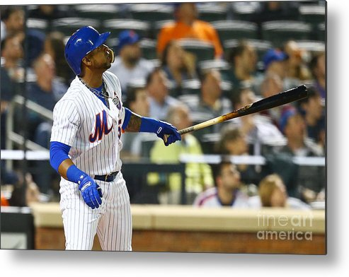 Yoenis Cespedes Metal Print featuring the photograph Yoenis Cespedes by Mike Stobe