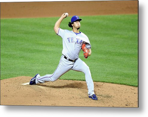 People Metal Print featuring the photograph Yu Darvish by G Fiume