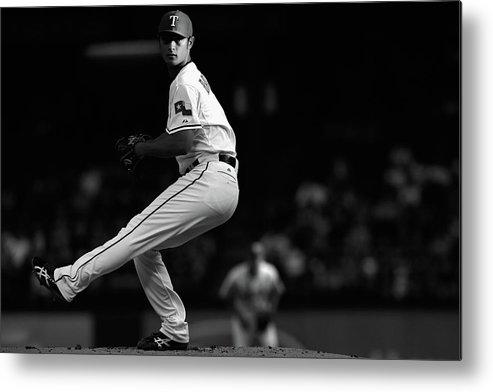 American League Baseball Metal Print featuring the photograph Yu Darvish by Tom Pennington