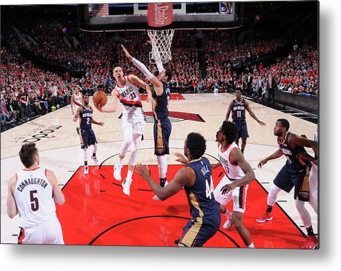 Playoffs Metal Print featuring the photograph Zach Collins by Cameron Browne