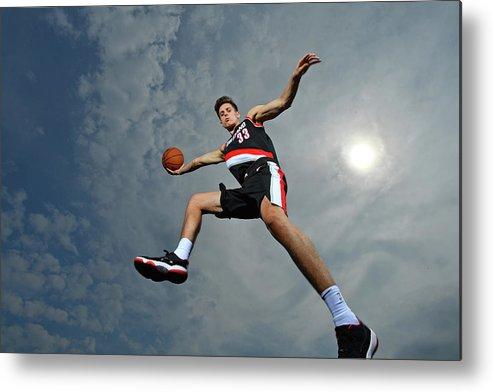 Nba Pro Basketball Metal Print featuring the photograph Zach Collins by Jesse D. Garrabrant