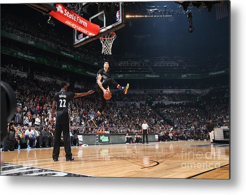 Event Metal Print featuring the photograph Zach Lavine by Reid Kelley