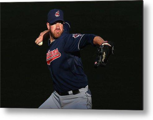 American League Baseball Metal Print featuring the photograph Zach Mcallister by Jeff Gross