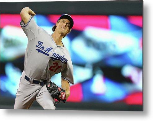 American League Baseball Metal Print featuring the photograph Zack Greinke by Elsa