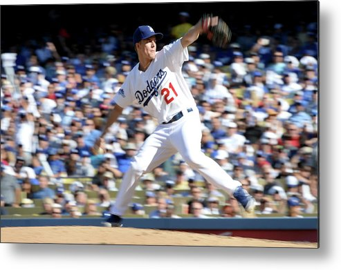 American League Baseball Metal Print featuring the photograph Zack Greinke by Harry How