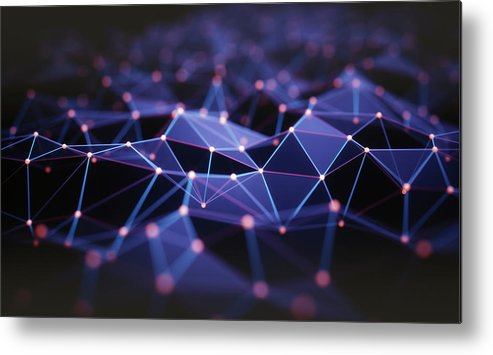 Artwork Metal Print featuring the photograph Connecting Lines by Ktsdesign/science Photo Library