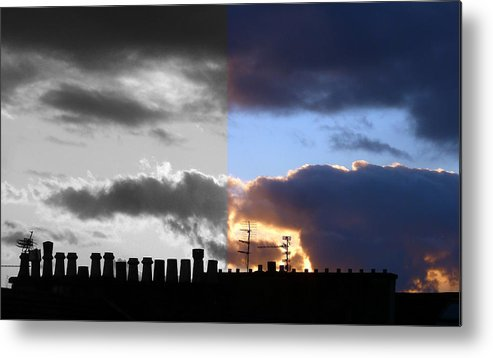 B&w And Colour Skyscape Metal Print featuring the photograph A difference of opinion by Baato