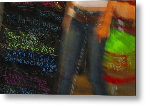 Abstract Metal Print featuring the photograph Beer Brat by Dart and Suze Humeston