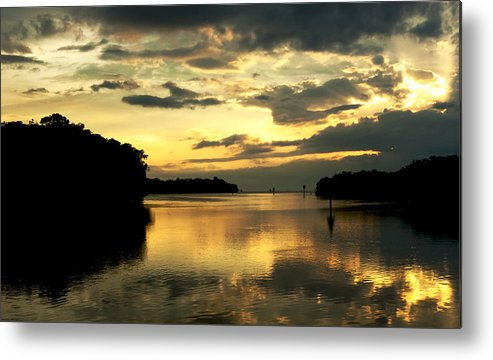 Sunset Metal Print featuring the photograph Channel To The Sunset by Norman Johnson