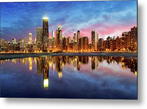 Tranquility Metal Print featuring the photograph Chicago by Joe Daniel Price