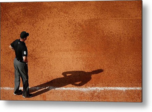 American League Baseball Metal Print featuring the photograph Chicago White Sox V Houston Astros by Scott Halleran