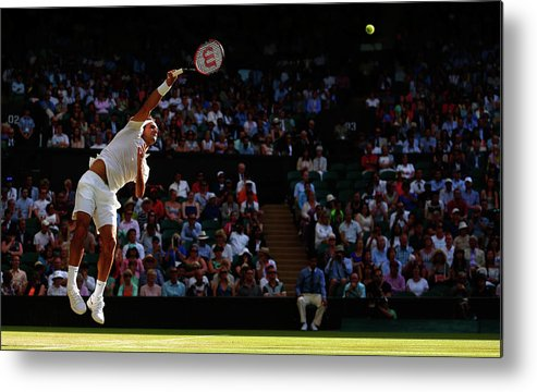 Tennis Metal Print featuring the photograph Day Seven The Championships - Wimbledon by Julian Finney