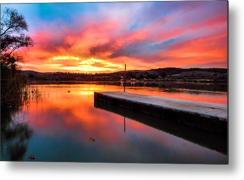 Lake Oneil Metal Print featuring the photograph Lake Oneil Sunset by Robert Aycock