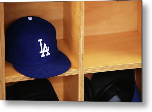 Season Metal Print featuring the photograph Los Angeles Dodgers V Arizona by Mark Nolan