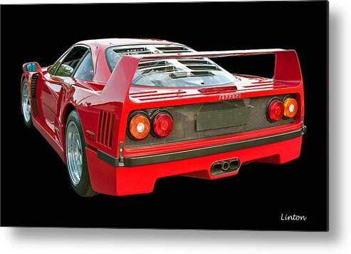 Ferrari F40 Metal Print featuring the photograph Spoiler 2 by Larry Linton