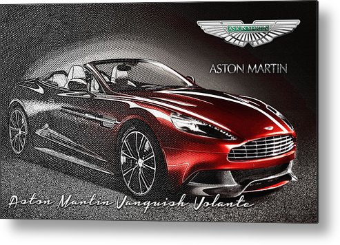 �wheels Of Fortune� Collection By Serge Averbukh Metal Print featuring the photograph Aston Martin Vanquish Volante by Serge Averbukh
