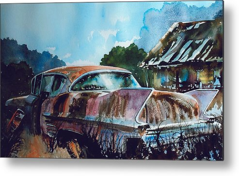 Caddy Metal Print featuring the painting Caddy Subsiding by Ron Morrison