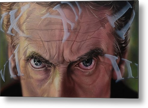 Drwho Metal Print featuring the painting Dr. Who by Robert Haasdijk