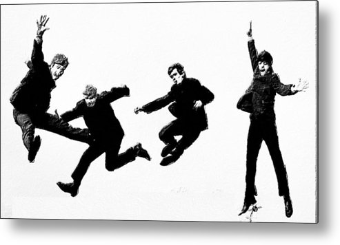 The Beatles Metal Print featuring the painting Fab by Tony Rubino