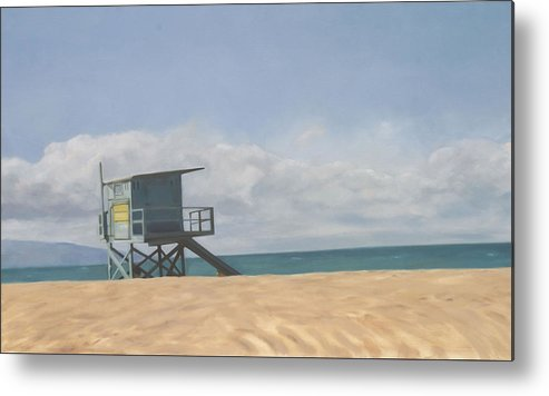 Beach Metal Print featuring the painting Lifeguard Tower by Merle Keller