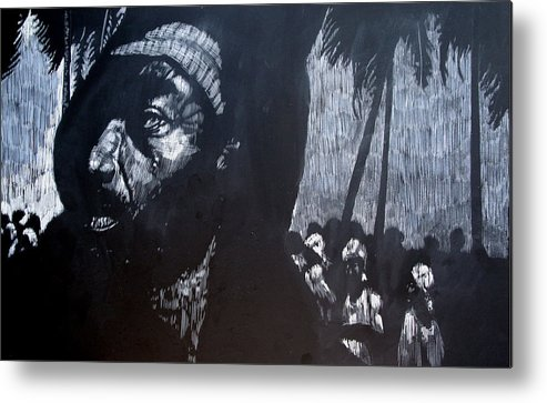 Meet Metal Print featuring the mixed media The Meeting by Chester Elmore