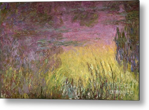 Waterlilies At Sunset Metal Print featuring the painting Waterlilies at Sunset by Claude Monet
