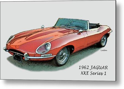 Jaguar Metal Print featuring the digital art XKE by Larry Linton