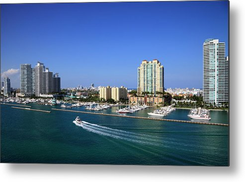 Built Structure Metal Print featuring the photograph Miami Beach Marina by Jorgegonzalez