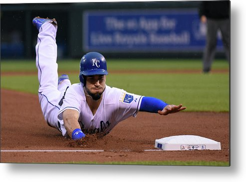 People Metal Print featuring the photograph Eric Hosmer by Ed Zurga
