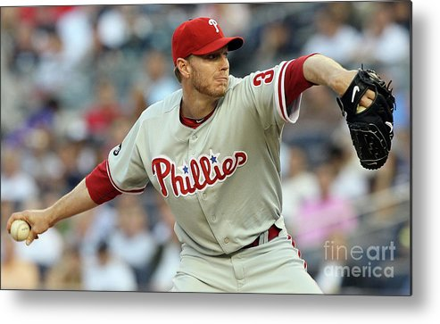 American League Baseball Metal Print featuring the photograph Roy Halladay by Jim Mcisaac