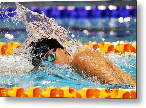 People Metal Print featuring the photograph British Swimming Championships - Day One by Ian MacNicol