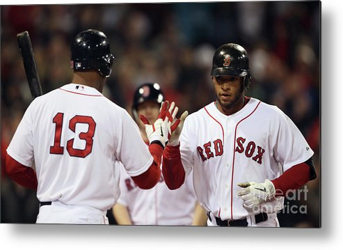 People Metal Print featuring the photograph Carl Crawford and Darnell Mcdonald by Elsa