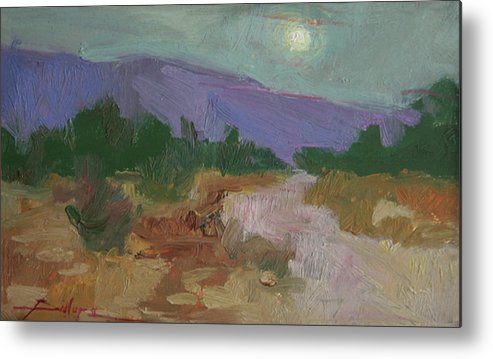 Evening Paintings Metal Print featuring the painting Early Eve by Betty Jean Billups