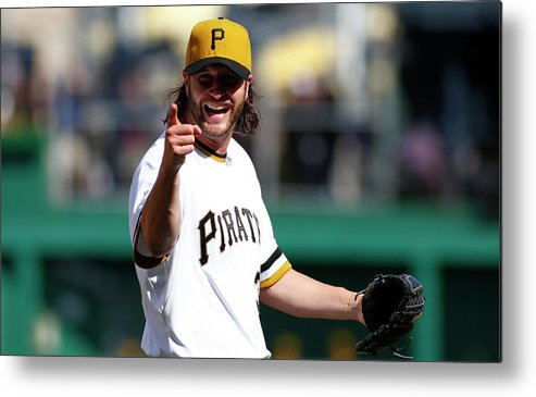 Ninth Inning Metal Print featuring the photograph Jason Grilli by Justin K. Aller