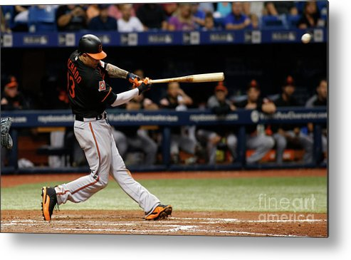 People Metal Print featuring the photograph Manny Machado by Brian Blanco