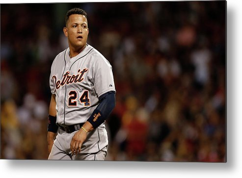 Second Inning Metal Print featuring the photograph Miguel Cabrera by Winslow Townson