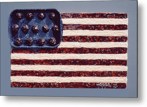 Czappa Metal Print featuring the relief Speggetti Flag by Bill Czappa