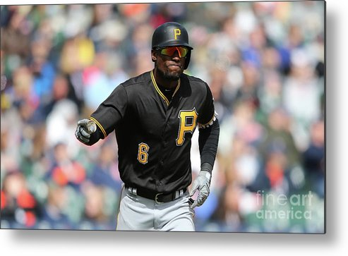 Three Quarter Length Metal Print featuring the photograph Starling Marte by Leon Halip